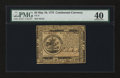 Colonial Notes:Continental Congress Issues, Continental Currency May 10, 1775 $5 PMG Extremely Fine 40....