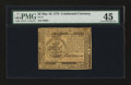 Colonial Notes:Continental Congress Issues, Continental Currency May 10, 1775 $5 PMG Choice Extremely Fine45....