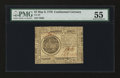 Colonial Notes:Continental Congress Issues, Continental Currency May 9, 1776 $7 PMG About Uncirculated 55....