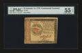 Colonial Notes:Continental Congress Issues, Continental Currency January 14, 1779 $4 PMG About Uncirculated 55EPQ....