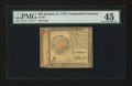 Colonial Notes:Continental Congress Issues, Continental Currency January 14, 1779 $45 PMG Choice Extremely Fine45....