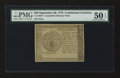 Colonial Notes:Continental Congress Issues, Continental Currency September 26, 1778 $40 Counterfeit DetectorPMG About Uncirculated 50 EPQ....