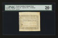 Colonial Notes:North Carolina, North Carolina April 23, 1761 15s PMG Very Fine 20 Net....