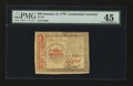 Colonial Notes:Continental Congress Issues, Continental Currency January 14, 1779 $50 PMG Choice Extremely Fine45....
