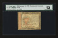 Colonial Notes:Continental Congress Issues, Continental Currency January 14, 1779 $55 PMG Choice Extremely Fine45....