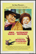 """Movie Posters:Western, Rooster Cogburn (Universal, 1975). One Sheet (27"""" X 41"""") andProgram (9"""" X 10.5""""). Western.. ... (Total: 2 Items)"""