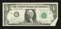 Error Notes:Attached Tabs, Fr. 1907-J $1 1969D Federal Reserve Note. Very Fine-ExtremelyFine.. ...