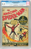 Silver Age (1956-1969):Superhero, The Amazing Spider-Man #1 (Marvel, 1963) CGC VG+ 4.5 Cream tooff-white pages....