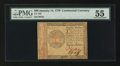 Colonial Notes:Continental Congress Issues, Continental Currency January 14, 1779 $80 PMG About Uncirculated55....
