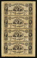 Obsoletes By State:Louisiana, New Orleans,LA- Canal Bank $5-$5-$5-$5 Uncut Sheet. New Orleans,LA- Canal Bank $10-$10-$10-$10 Uncut Sheet. New Orlean... (Total: 3 sheets)