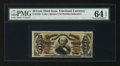 Fractional Currency:Third Issue, Fr. 1335 50¢ Third Issue Spinner PMG Choice Uncirculated 64 EPQ....