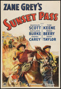 "Movie Posters:Western, Sunset Pass (Paramount, 1933). One Sheet (27.5"" X 41"") Style A.Western.. ..."