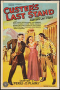 "Movie Posters:Adventure, Custer's Last Stand (Stage and Screen Productions, 1936). One Sheet(27"" X 41"") Chapter 1 -- ""Perils of the Plains."" Serial...."