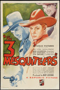 """Movie Posters:Western, The Three Mesquiteers (Republic, 1936). One Sheet (27"""" X 41""""). Western.. ..."""