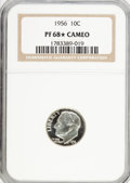 Proof Roosevelt Dimes, 1956 10C ★ PR68 Cameo NGC. NGC Census: (118/56). PCGS Population(103/10). Numismedia Ws...