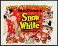 """Movie Posters:Animated, Snow White and the Seven Dwarfs (Buena Vista, R-1958). Half Sheet(22"""" X 28""""). Animated.. ..."""