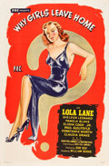 "Movie Posters:Exploitation, Why Girls Leave Home (PRC, 1945). One Sheet (27"" X 41"").. ..."