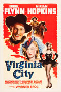 "Movie Posters:Western, Virginia City (Warner Brothers, 1940). One Sheet (27"" X 41"").. ..."