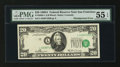 Error Notes:Shifted Third Printing, Fr. 2068-L $20 1969A Federal Reserve Note. PMG About Uncirculated 55 EPQ.. ...