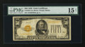 Small Size:Gold Certificates, Fr. 2404 $50 1928 Gold Certificate. PMG Choice Fine 15 Net.. ...