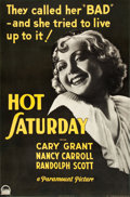 "Movie Posters:Drama, Hot Saturday (Paramount, 1932). One Sheet (26"" X 40"").. ..."