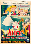 "Movie Posters:Animation, Alice in Wonderland (RKO, 1951). Belgian (14"" X 20"").. ..."