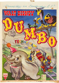 "Movie Posters:Animated, Dumbo (RKO, 1947). Post-War Belgian (14"" X 19.75"").. ..."