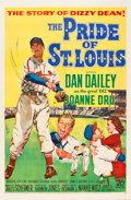 "Movie Posters:Sports, The Pride of St. Louis (20th Century Fox, 1952). One Sheet (27"" X41"").. ..."