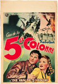 """Movie Posters:Hitchcock, Saboteur (Universal, Late 1940s). First Post-War Belgian (15"""" X 22"""").. ..."""