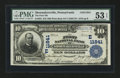 National Bank Notes:Pennsylvania, Shoemakersville, PA - $10 1902 Plain Back Fr. 633 The First NB Ch.# (E)11841. ...