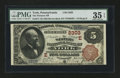 National Bank Notes:Pennsylvania, York, PA - $5 1882 Brown Back Fr. 474 The Western NB Ch. # (E)2303....