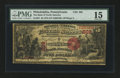 National Bank Notes:Pennsylvania, Philadelphia, PA - $5 1875 Fr. 401 The Bank of North America Ch. #602. ...