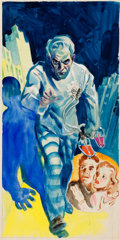 Mainstream Illustration, GLENN CRAVATH (American, 1897-1964). The Mad Scientist,preliminary movie promotion illustration. Gouache on board. 18x...