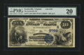 National Bank Notes:Virginia, Scottsville, VA - $10 1882 Value Back Fr. 577 The Scottsville NBCh. # (S)5725. ...
