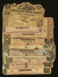 Confederate Notes:Group Lots, Mixed Confederate - Poor or Better.. ... (Total: 10 notes)