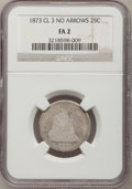 Seated Quarters: , 1873 25C Closed 3 Fair 2 NGC. NGC Census: (1/7). PCGS Population(0/19). Mintage: 40,000. Numismedia Wsl. Price for problem...