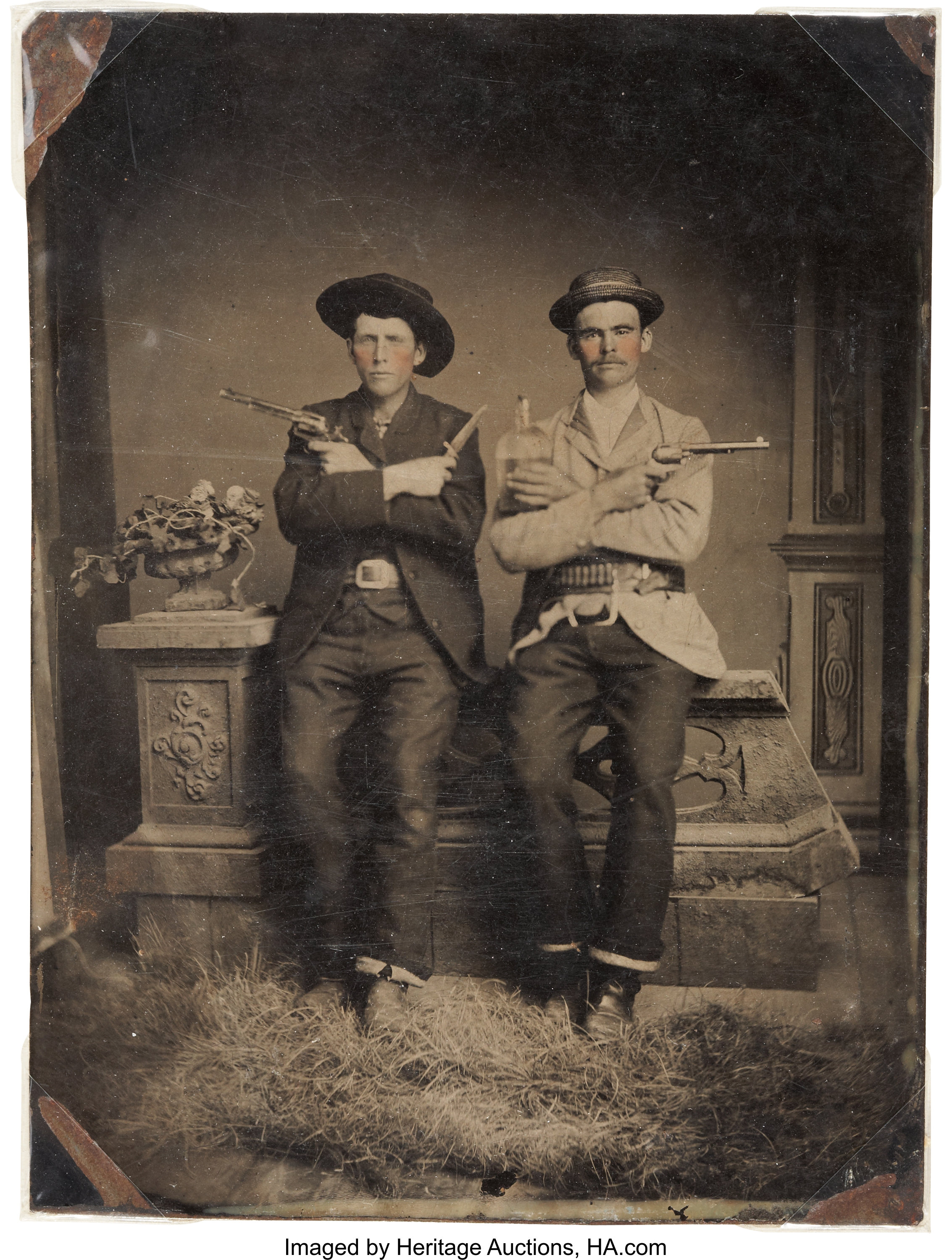Great Half Plate Tintype Of Two Well Armed Western Gents Circa Lot 52197 Heritage Auctions Success full plate armor +10 — 1 pcs. great half plate tintype of two well armed western gents circa lot 52197 heritage auctions