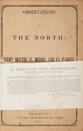 Military & Patriotic:Civil War, Edward A. Pollard: Observations in the North: Eight Months in Prison and on Parole. ...