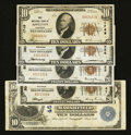 National Bank Notes:Wisconsin, Appleton, Fond Du Lac, La Crosse, Marshfield, and Superior Nationals.. ... (Total: 5 notes)