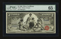 Large Size:Silver Certificates, Fr. 247 $2 1896 Silver Certificate PMG Gem Uncirculated 65 EPQ....