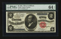 Large Size:Silver Certificates, Fr. 246 $2 1891 Silver Certificate PMG Choice Uncirculated 64 EPQ....