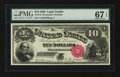 Large Size:Legal Tender Notes, Fr. 110 $10 1880 Legal Tender PMG Superb Gem Unc 67 EPQ....