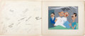 animation art:Production Cel, Disney Studios Get Well Card Signed (Disney, c.1940s)....
