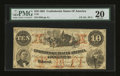 Confederate Notes:1861 Issues, T23 PF-2 $10 1861.. ...