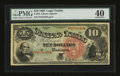 Large Size:Legal Tender Notes, Fr. 96 $10 1869 Legal Tender PMG Extremely Fine 40....