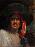 Mainstream Illustration, AMERICAN ARTIST (20th Century). Portrait of a Pirate. Oil oncanvas. 24 x 18 in.. Not signed. ...