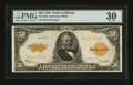 Large Size:Gold Certificates, Fr. 1200 $50 1922 Gold Certificate PMG Very Fine 30....