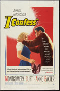 """Movie Posters:Hitchcock, I Confess (Warner Brothers, 1953). One Sheet (27"""" X 41"""").Hitchcock.. ..."""