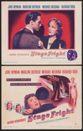"""Movie Posters:Hitchcock, Stage Fright (Warner Brothers, 1950). Title Lobby Card and LobbyCard (11"""" X 14""""). Hitchcock.. ... (Total: 2 Items)"""