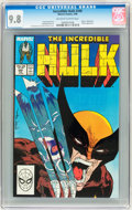 Modern Age (1980-Present):Superhero, The Incredible Hulk #340 (Marvel, 1988) CGC NM/MT 9.8 Off-white towhite pages....